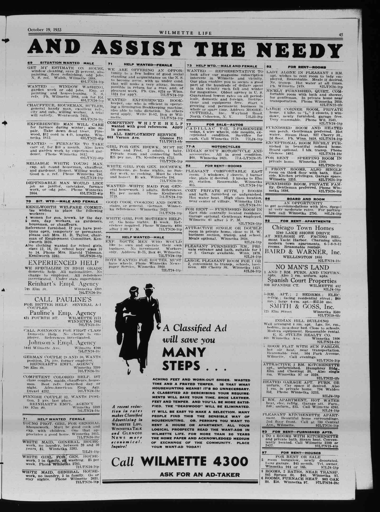 Wilmette Life (Wilmette, Illinois), 19 Oct 1933