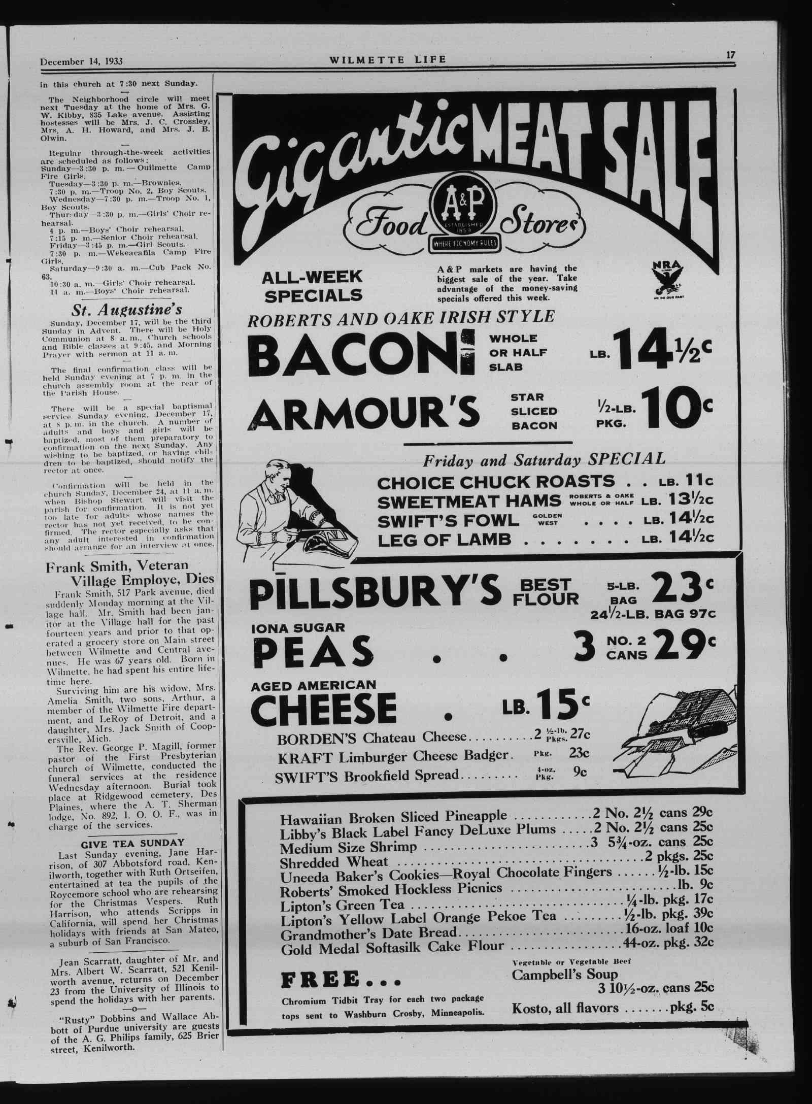 Wilmette Life (Wilmette, Illinois), 14 Dec 1933