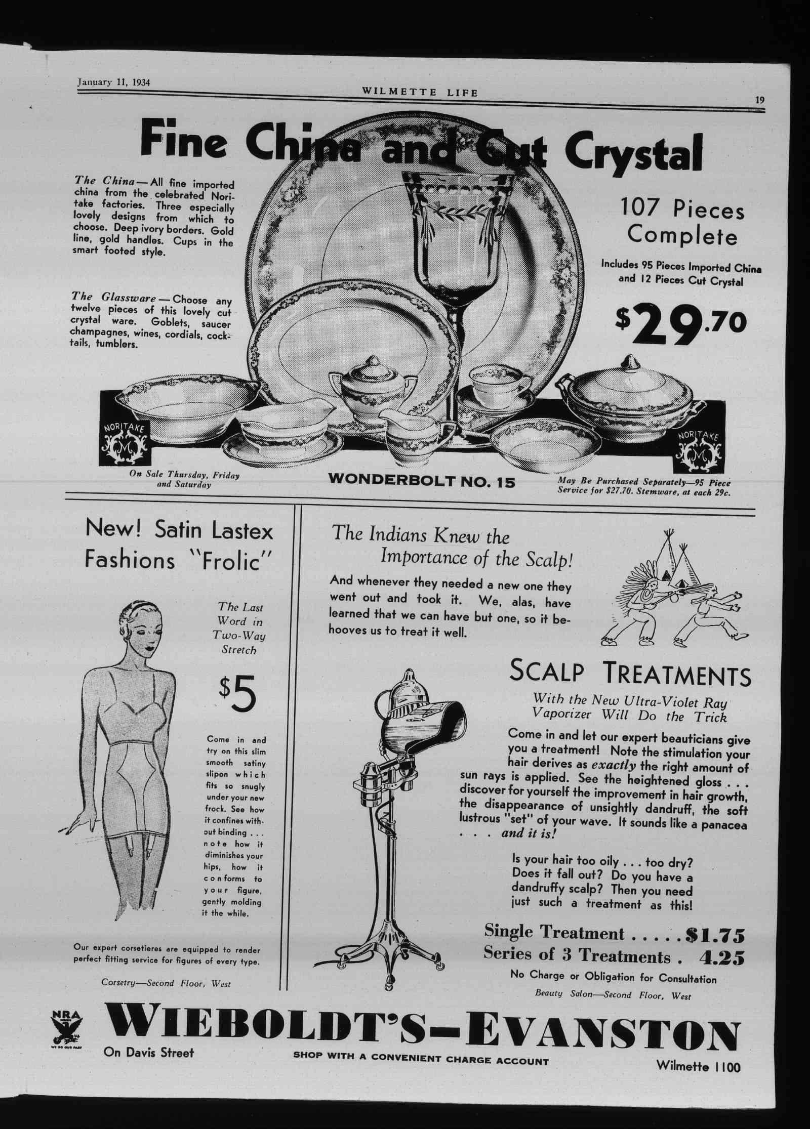 Wilmette Life (Wilmette, Illinois), 11 Jan 1934