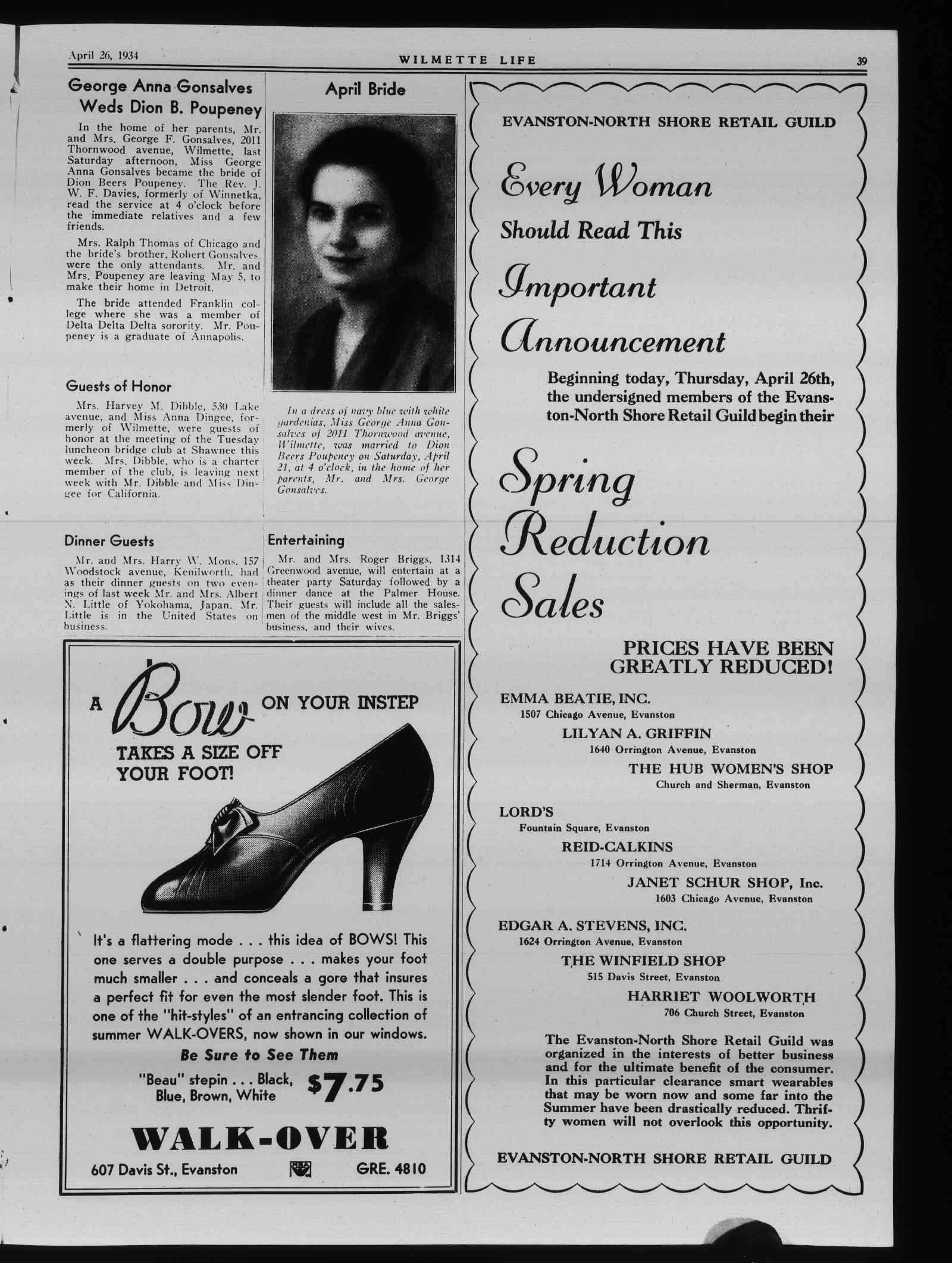 Wilmette Life (Wilmette, Illinois), 26 Apr 1934