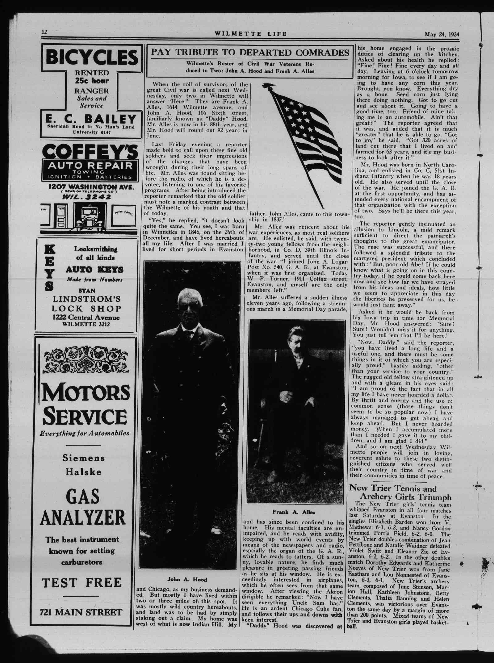 Wilmette Life (Wilmette, Illinois), 24 May 1934