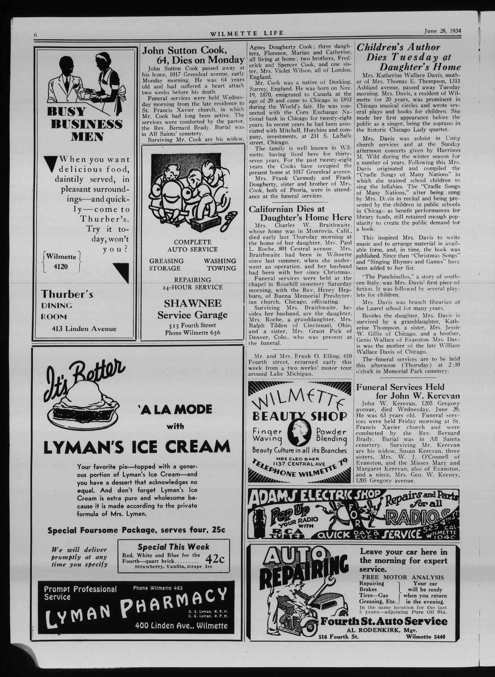 Wilmette Life (Wilmette, Illinois), 28 Jun 1934