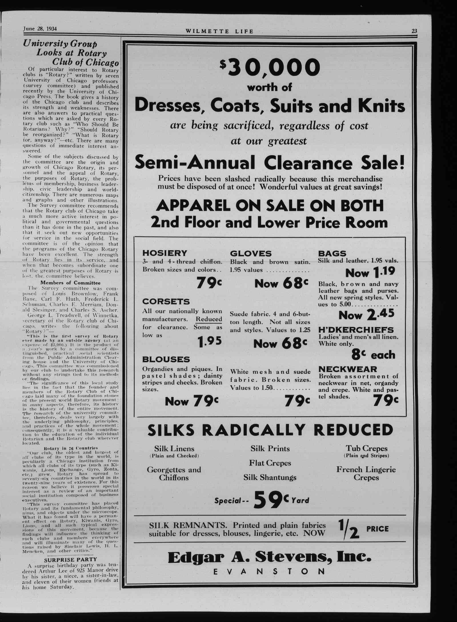 Wilmette Life (Wilmette, Illinois), 28 Jun 1934