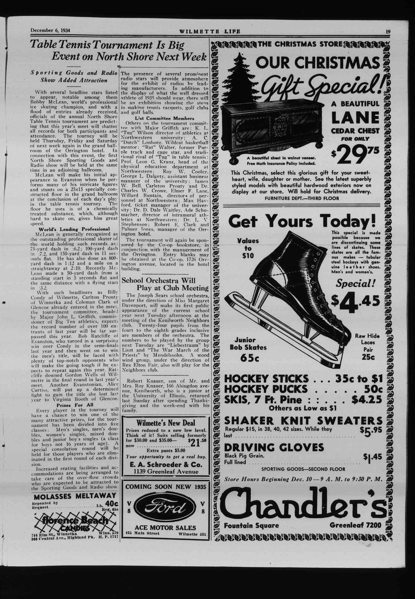 Wilmette Life (Wilmette, Illinois), 6 Dec 1934