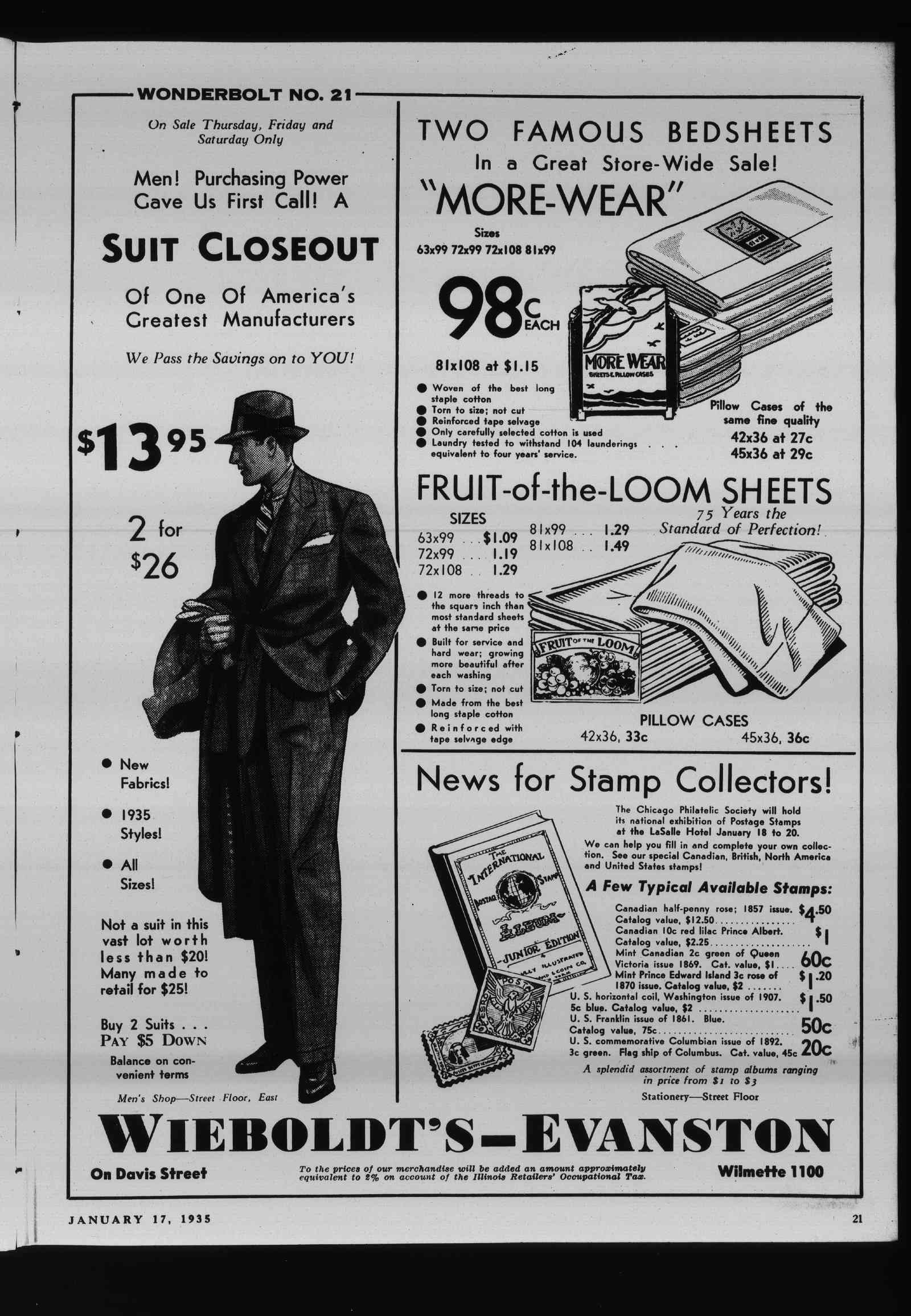 Wilmette Life (Wilmette, Illinois), 17 Jan 1935