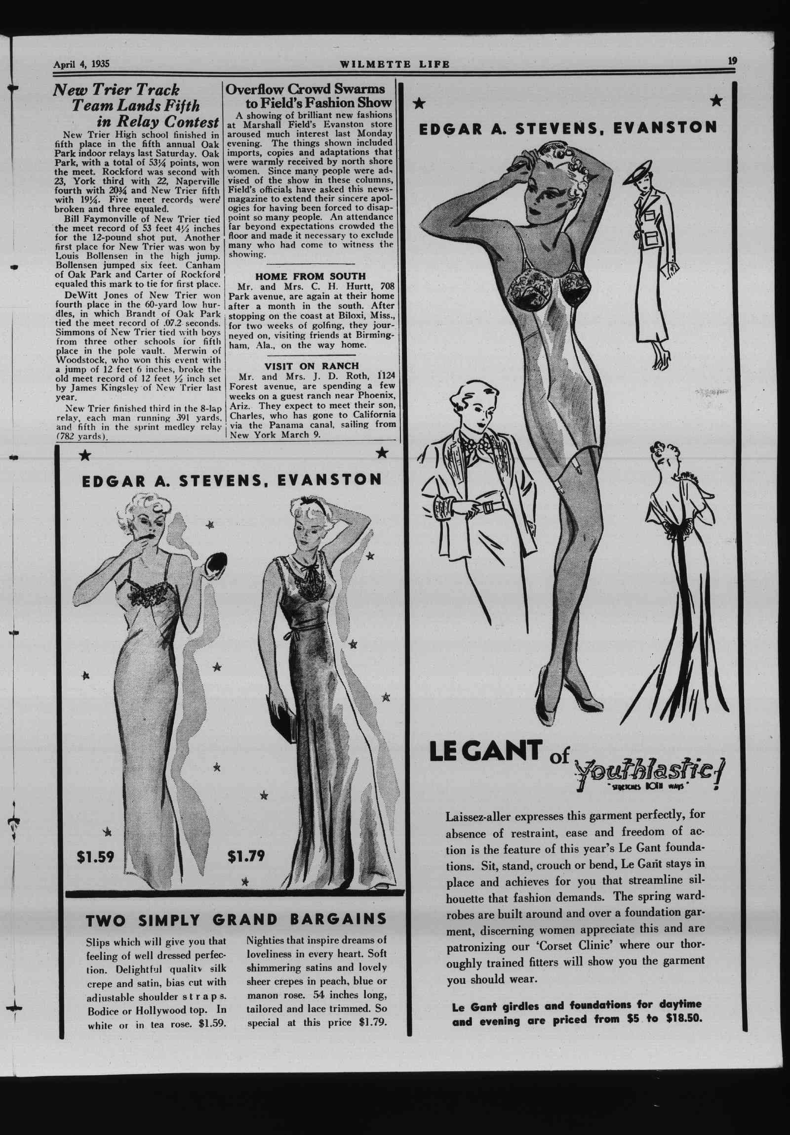 Wilmette Life (Wilmette, Illinois), 4 Apr 1935