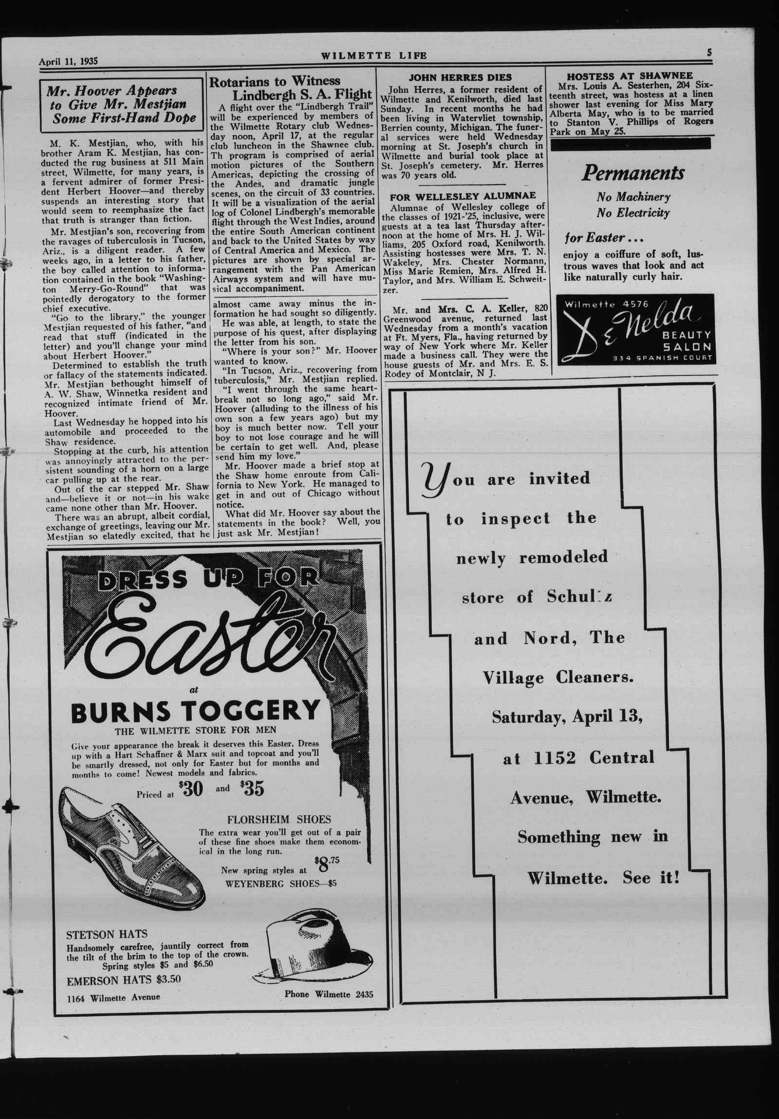Wilmette Life (Wilmette, Illinois), 11 Apr 1935