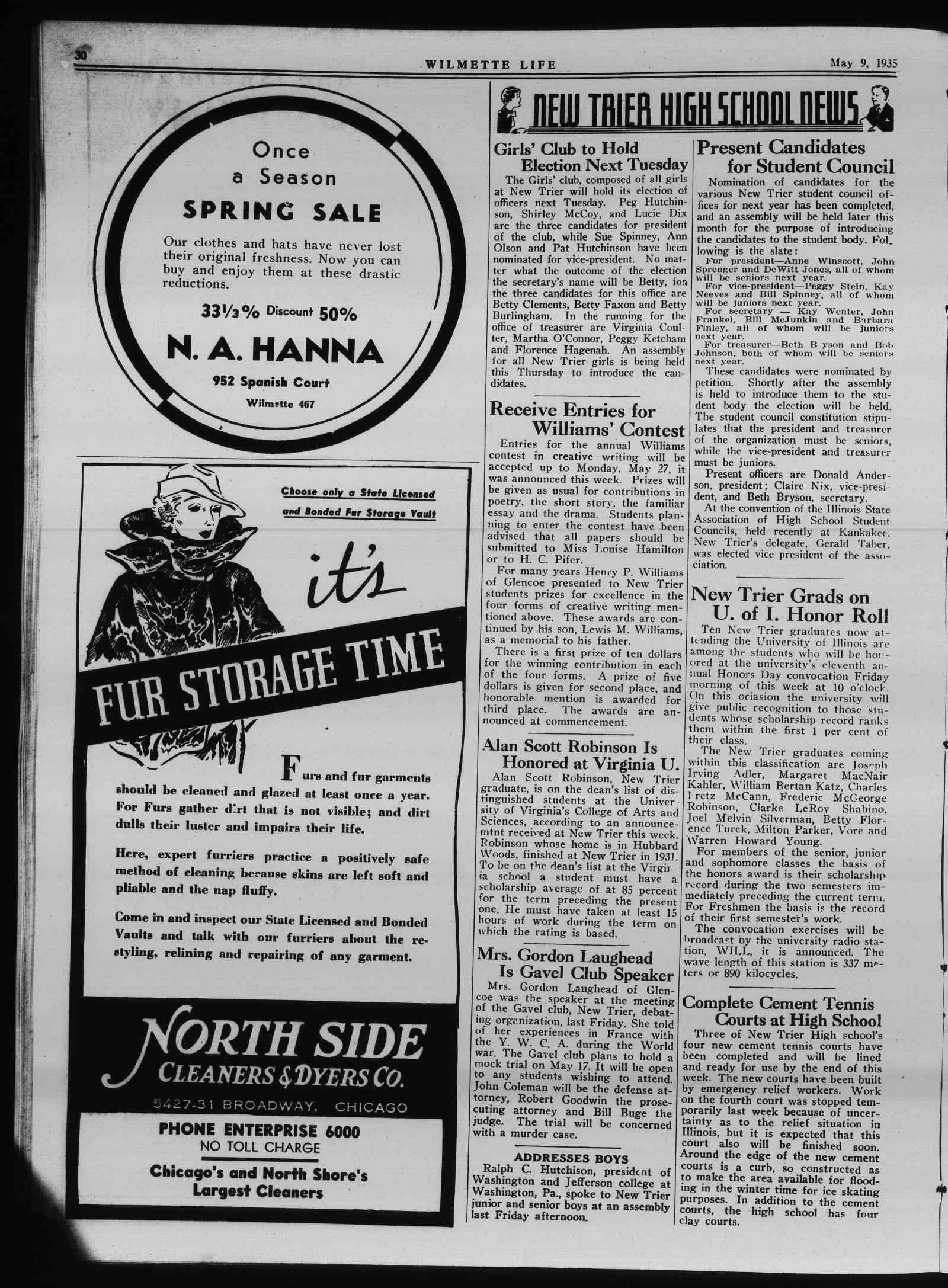 Wilmette Life (Wilmette, Illinois), 9 May 1935