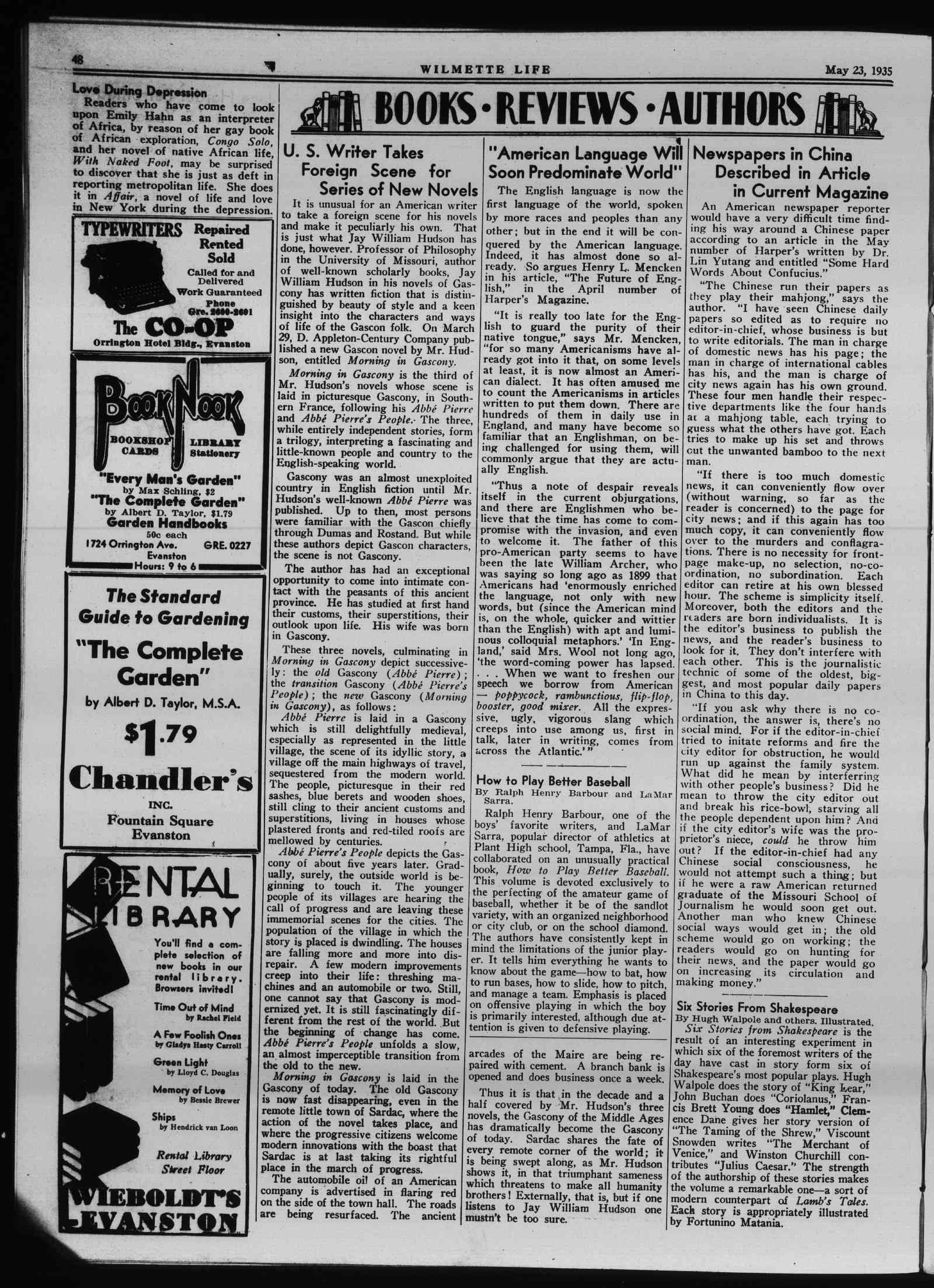 Wilmette Life (Wilmette, Illinois), 23 May 1935