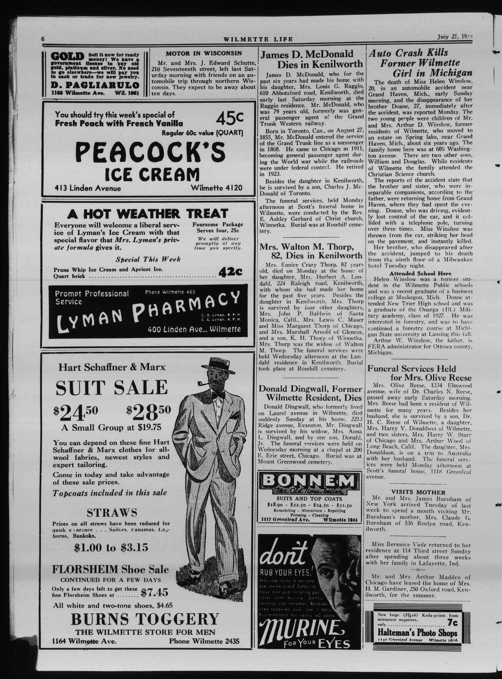 Wilmette Life (Wilmette, Illinois), 25 Jul 1935