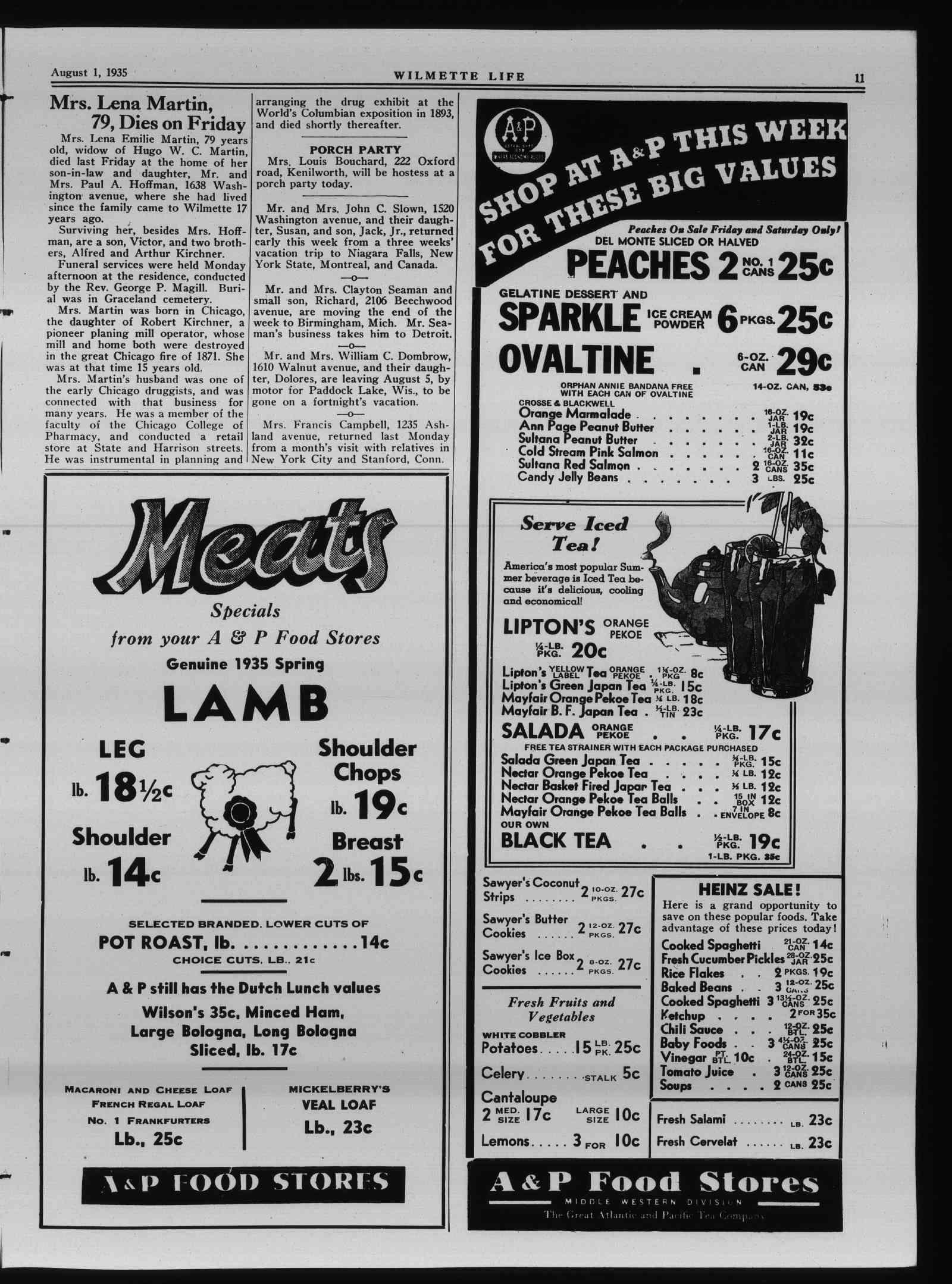 Wilmette Life (Wilmette, Illinois), 1 Aug 1935
