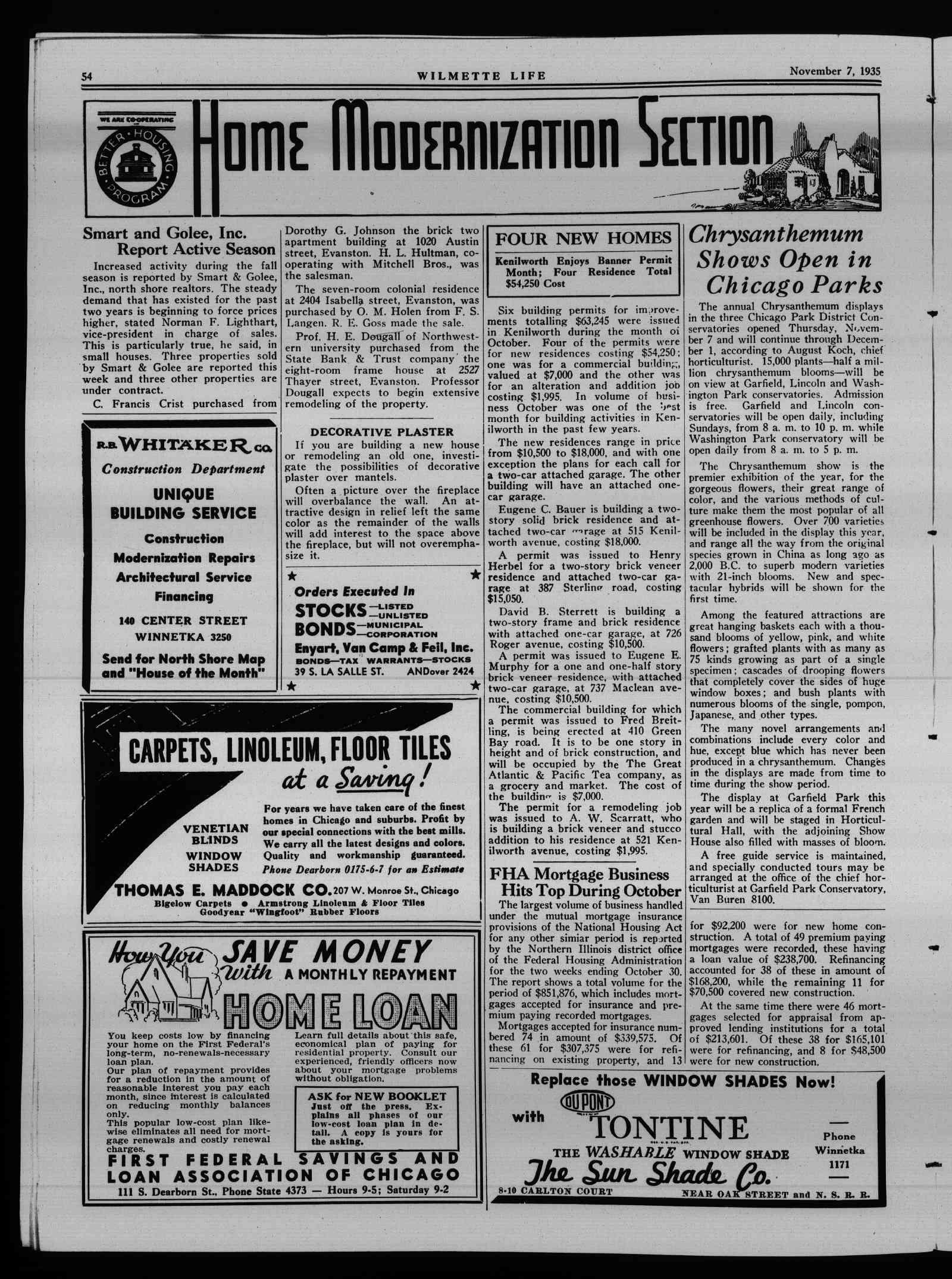 Wilmette Life (Wilmette, Illinois), 7 Nov 1935