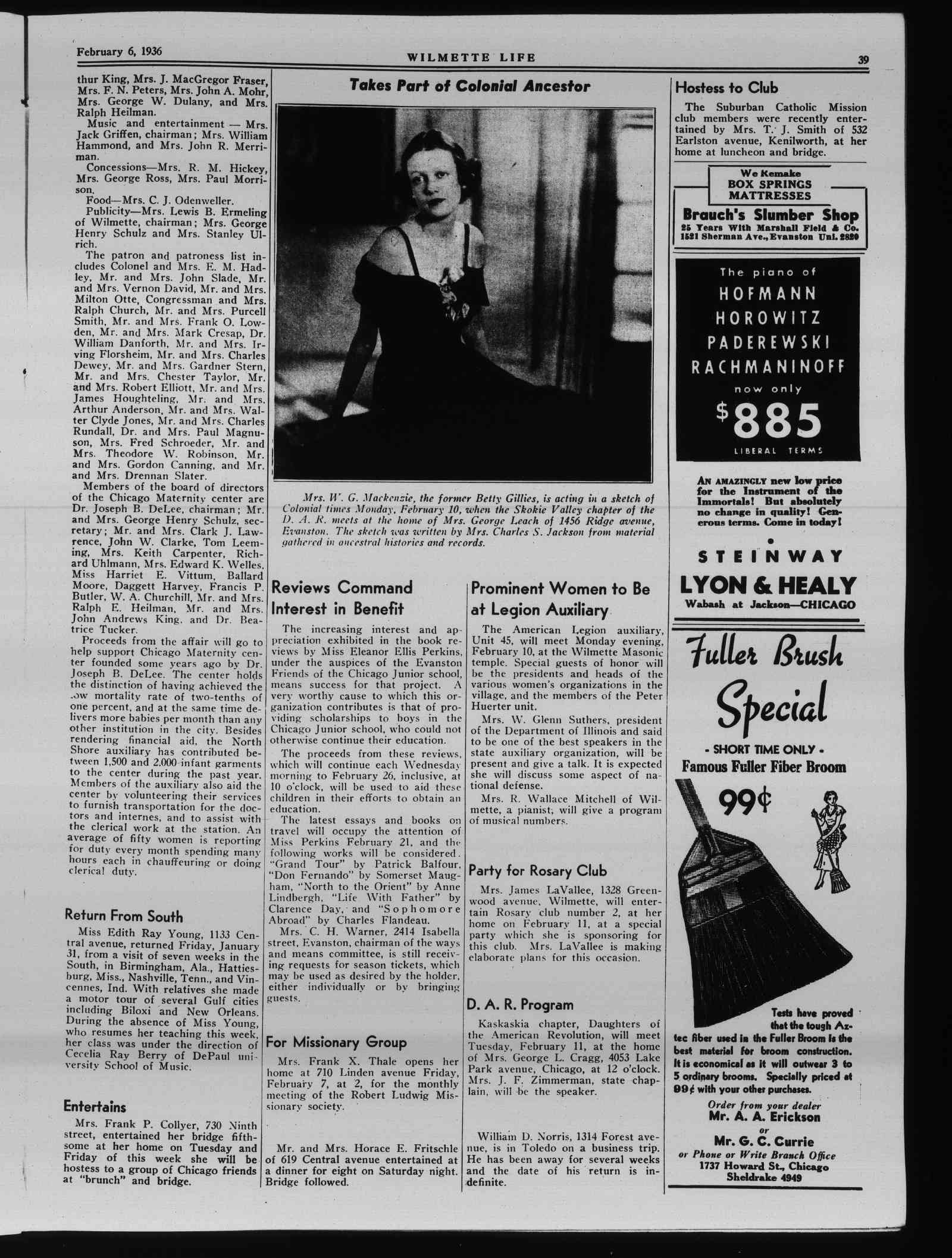 Wilmette Life (Wilmette, Illinois), 6 Feb 1936