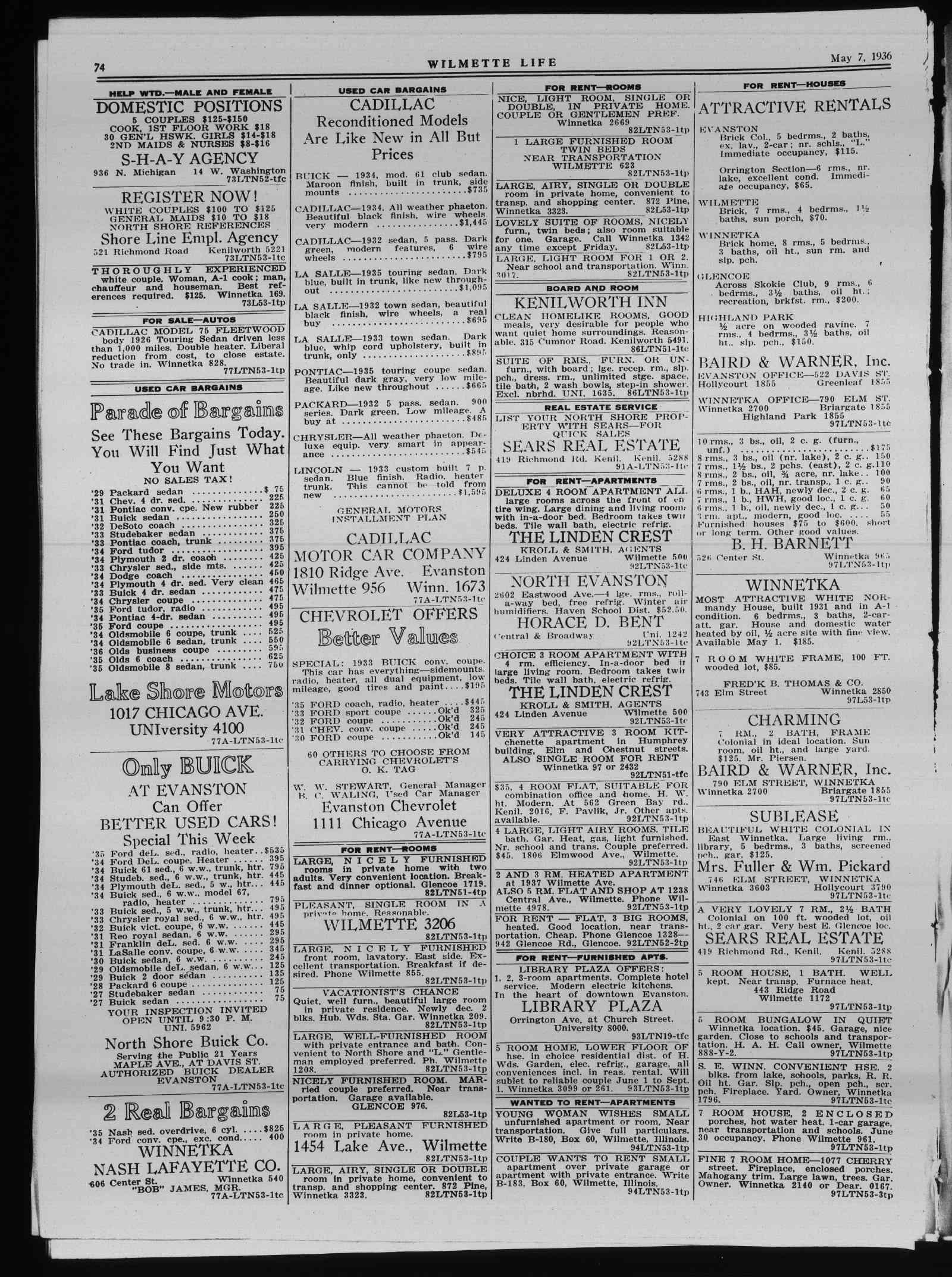 Wilmette Life (Wilmette, Illinois), 7 May 1936