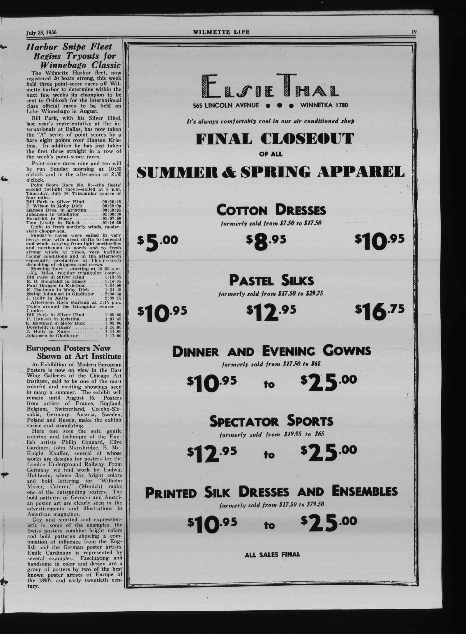 Wilmette Life (Wilmette, Illinois), 23 Jul 1936