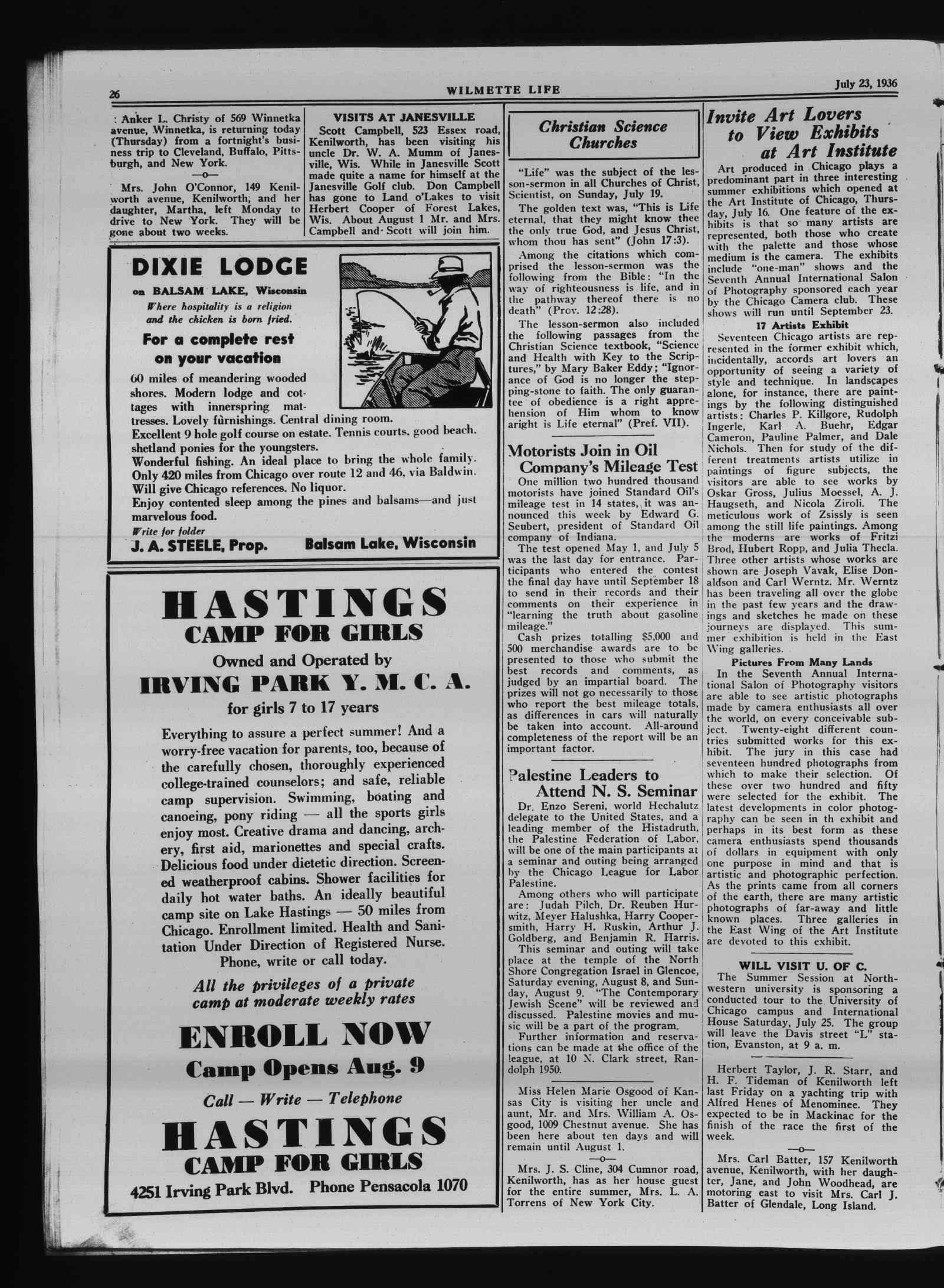 Wilmette Life (Wilmette, Illinois), 23 Jul 1936