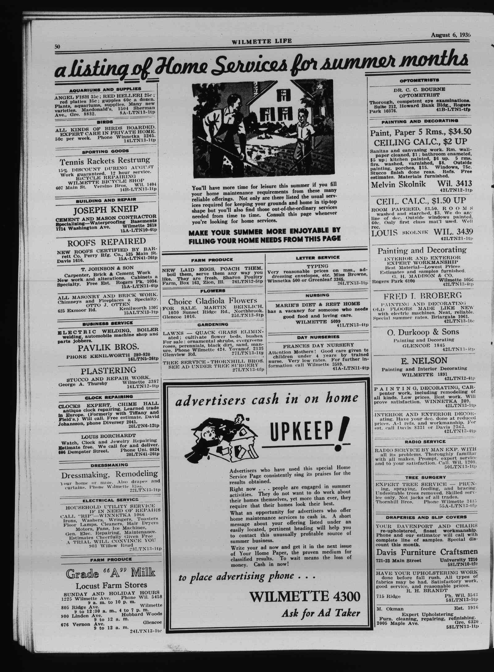 Wilmette Life (Wilmette, Illinois), 6 Aug 1936