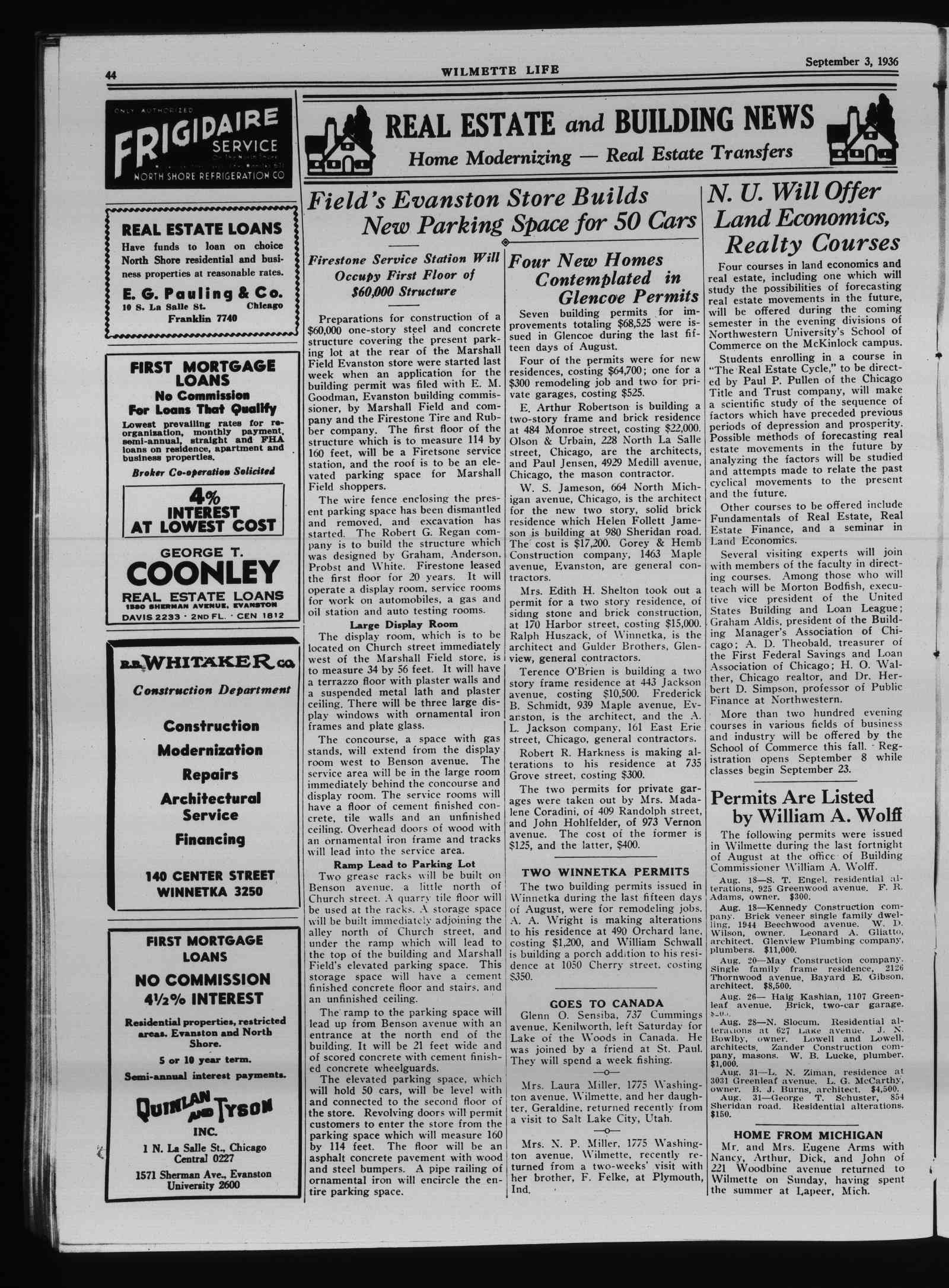 Wilmette Life (Wilmette, Illinois), 3 Sep 1936