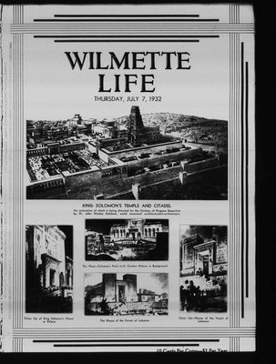 Wilmette Life (Wilmette, Illinois), 7 Jul 1932
