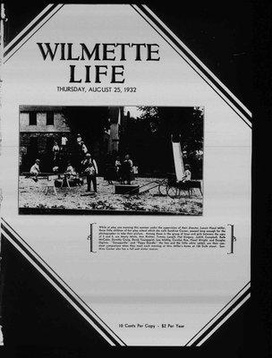 Wilmette Life (Wilmette, Illinois), 25 Aug 1932