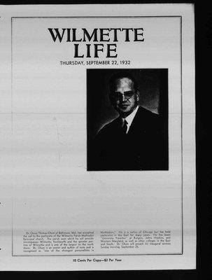 Wilmette Life (Wilmette, Illinois), 22 Sep 1932