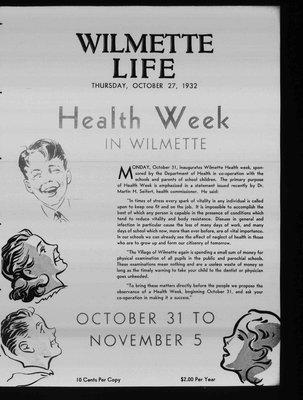 Wilmette Life (Wilmette, Illinois), 27 Oct 1932