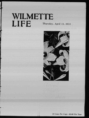 Wilmette Life (Wilmette, Illinois), 13 Apr 1933