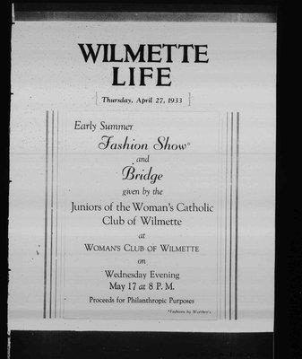 Wilmette Life (Wilmette, Illinois), 27 Apr 1933