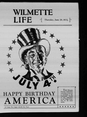 Wilmette Life (Wilmette, Illinois), 29 Jun 1933