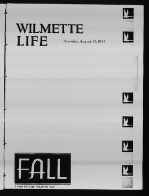Wilmette Life (Wilmette, Illinois), 31 Aug 1933