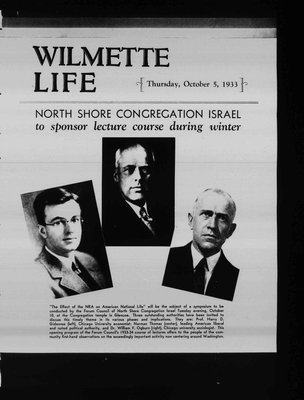 Wilmette Life (Wilmette, Illinois), 5 Oct 1933