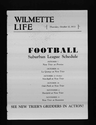 Wilmette Life (Wilmette, Illinois), 12 Oct 1933