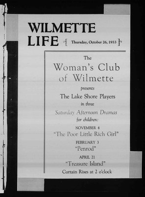 Wilmette Life (Wilmette, Illinois), 26 Oct 1933