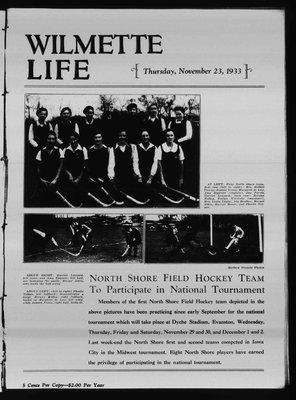 Wilmette Life (Wilmette, Illinois), 23 Nov 1933