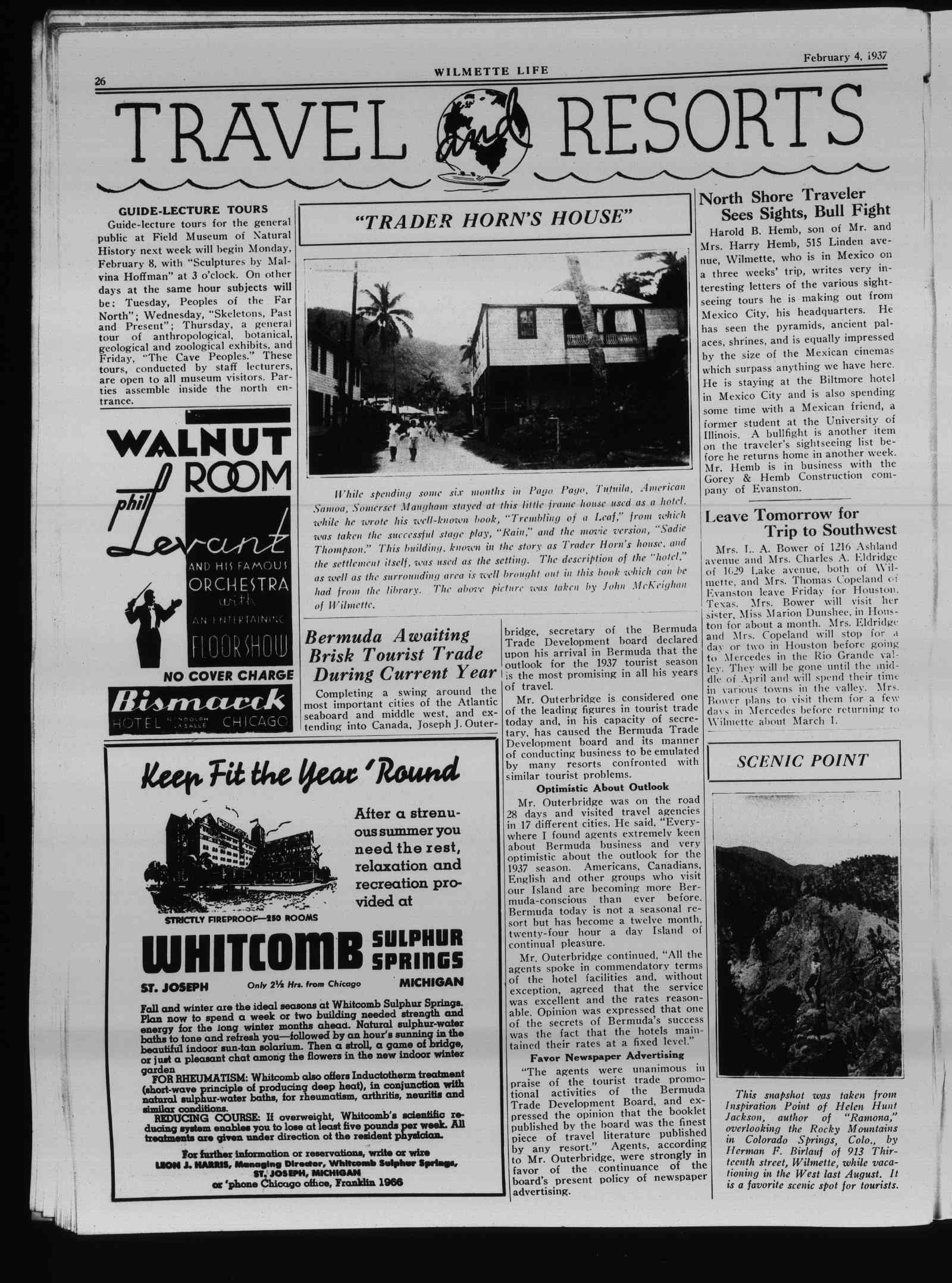 Wilmette Life (Wilmette, Illinois), 4 Feb 1937