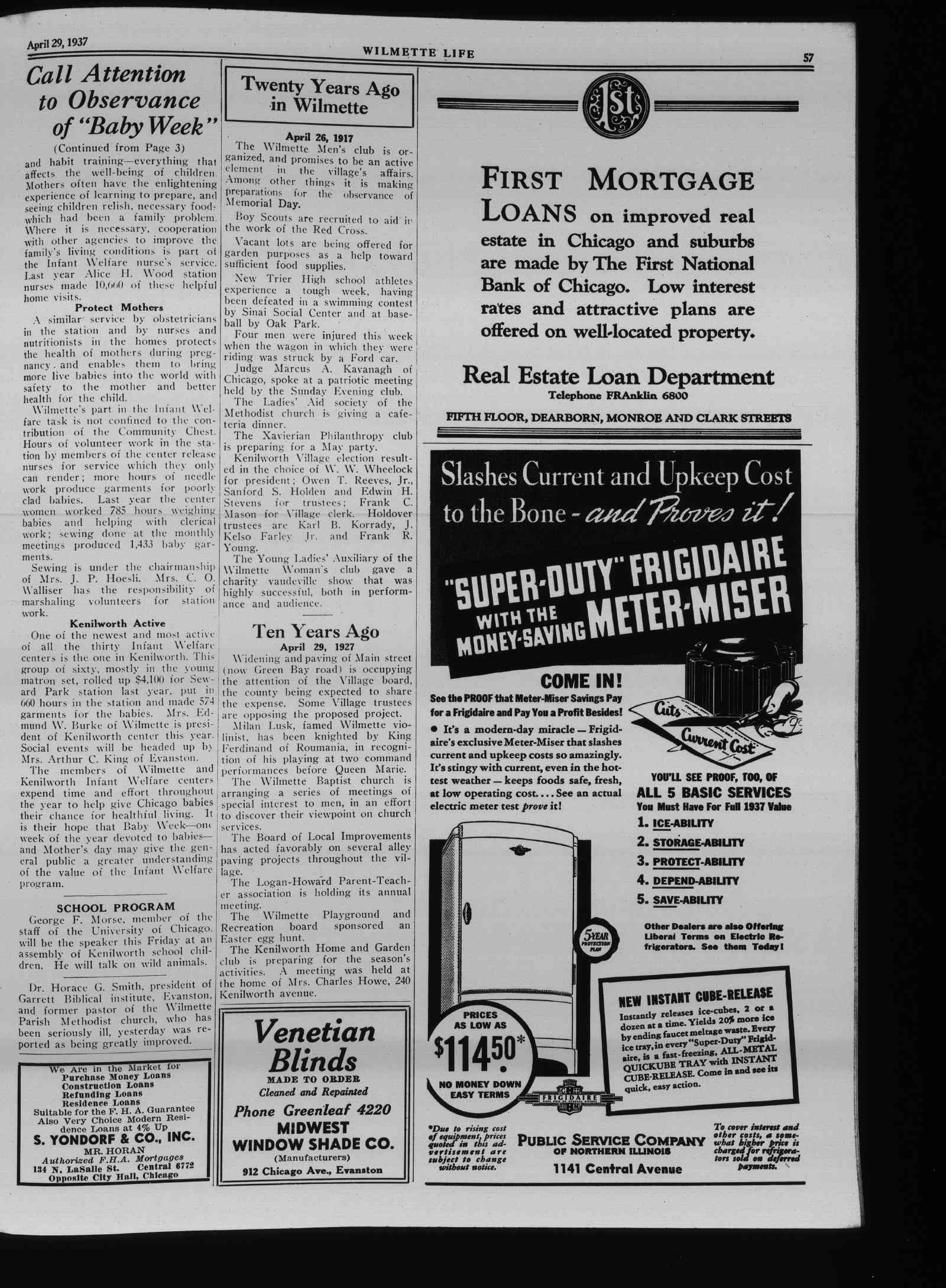 Wilmette Life (Wilmette, Illinois), 29 Apr 1937