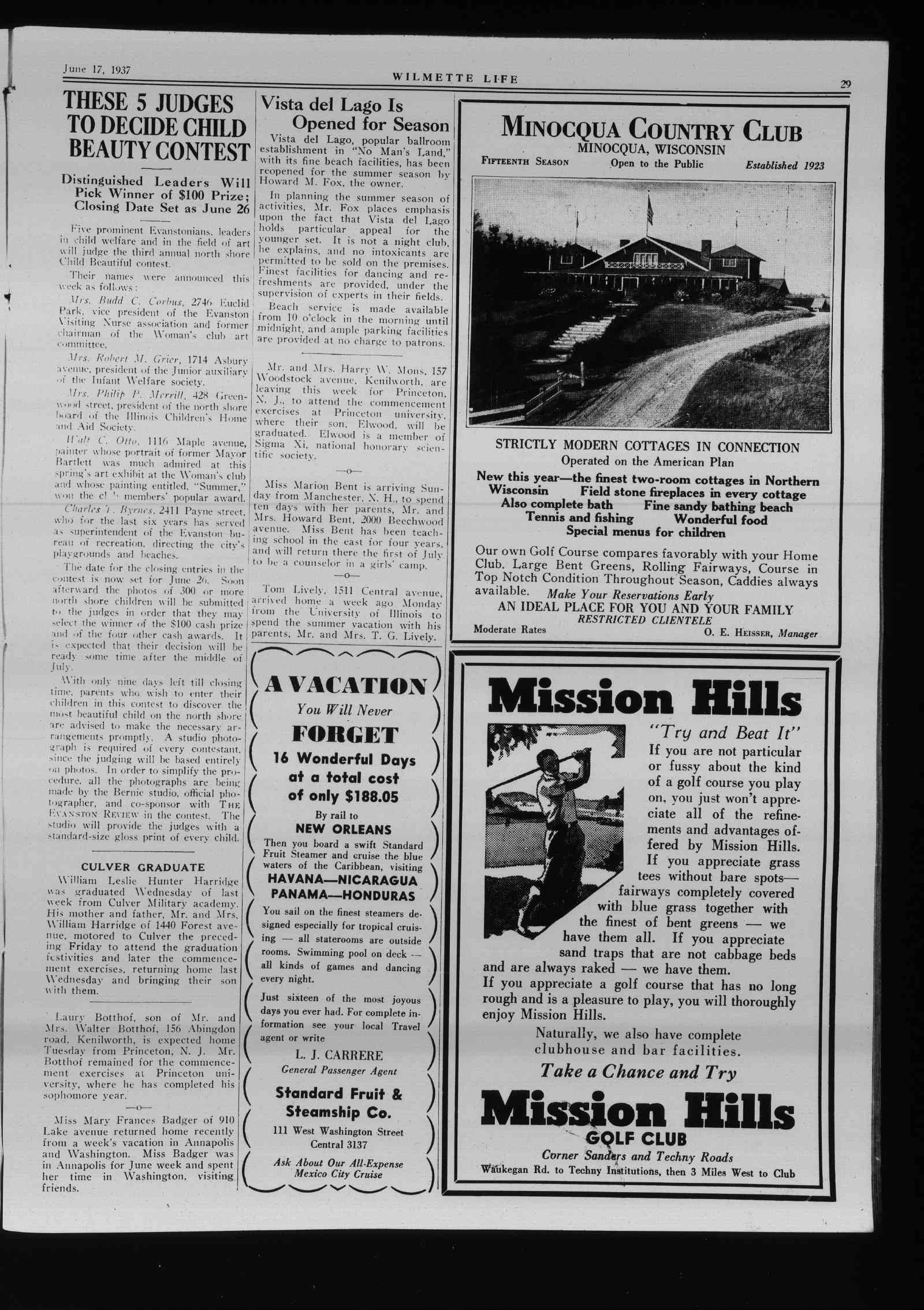 Wilmette Life (Wilmette, Illinois), 17 Jun 1937