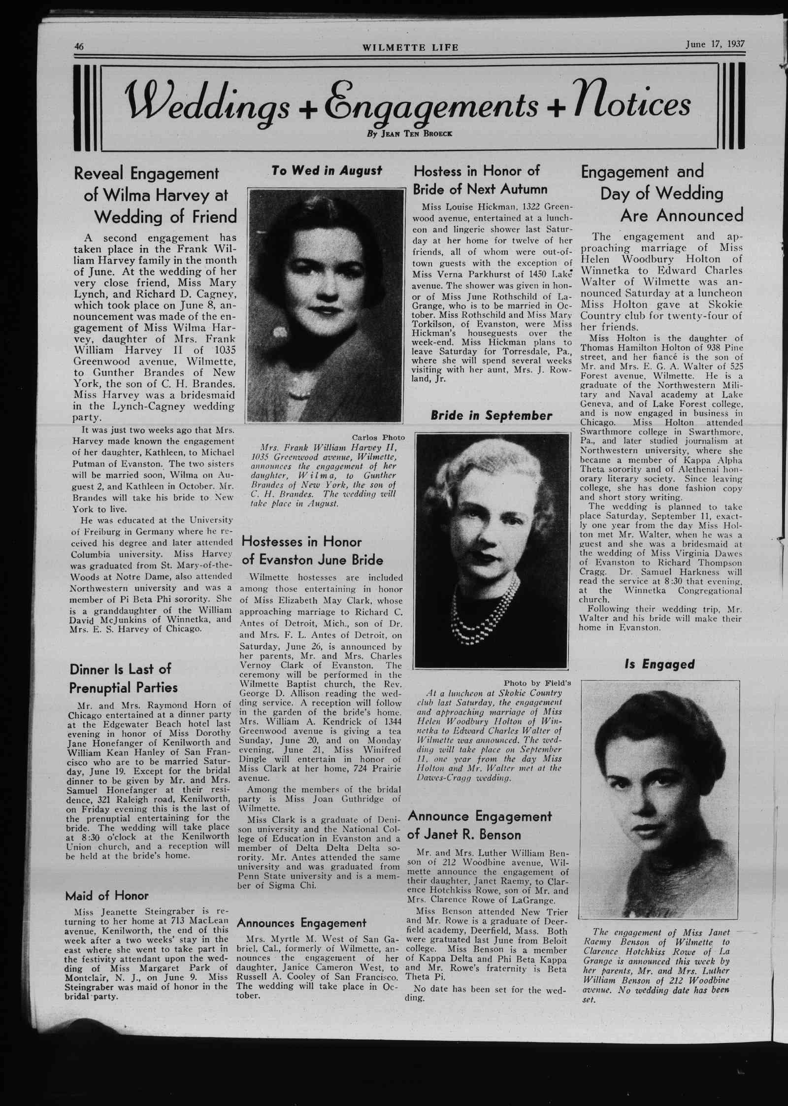 Wilmette Life (Wilmette, Illinois), 17 Jun 1937