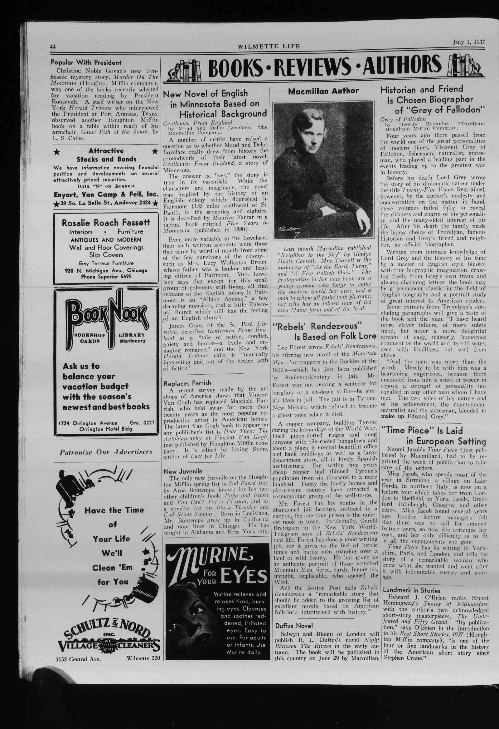 Wilmette Life (Wilmette, Illinois), 1 Jul 1937