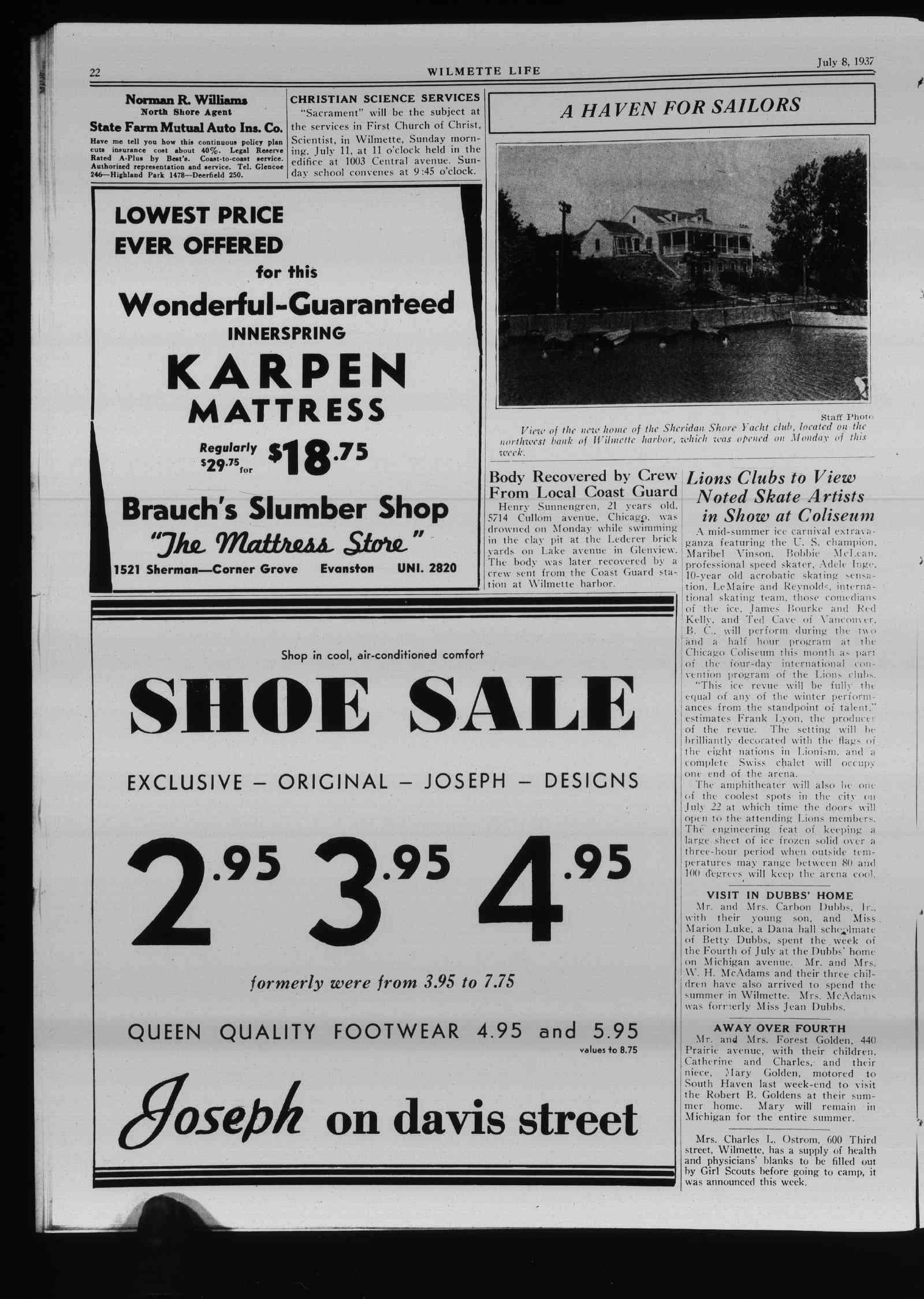 Wilmette Life (Wilmette, Illinois), 8 Jul 1937