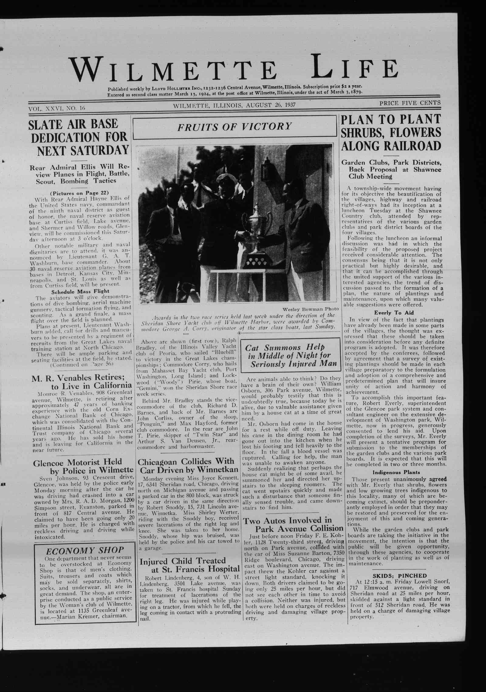 Wilmette Life (Wilmette, Illinois), 26 Aug 1937