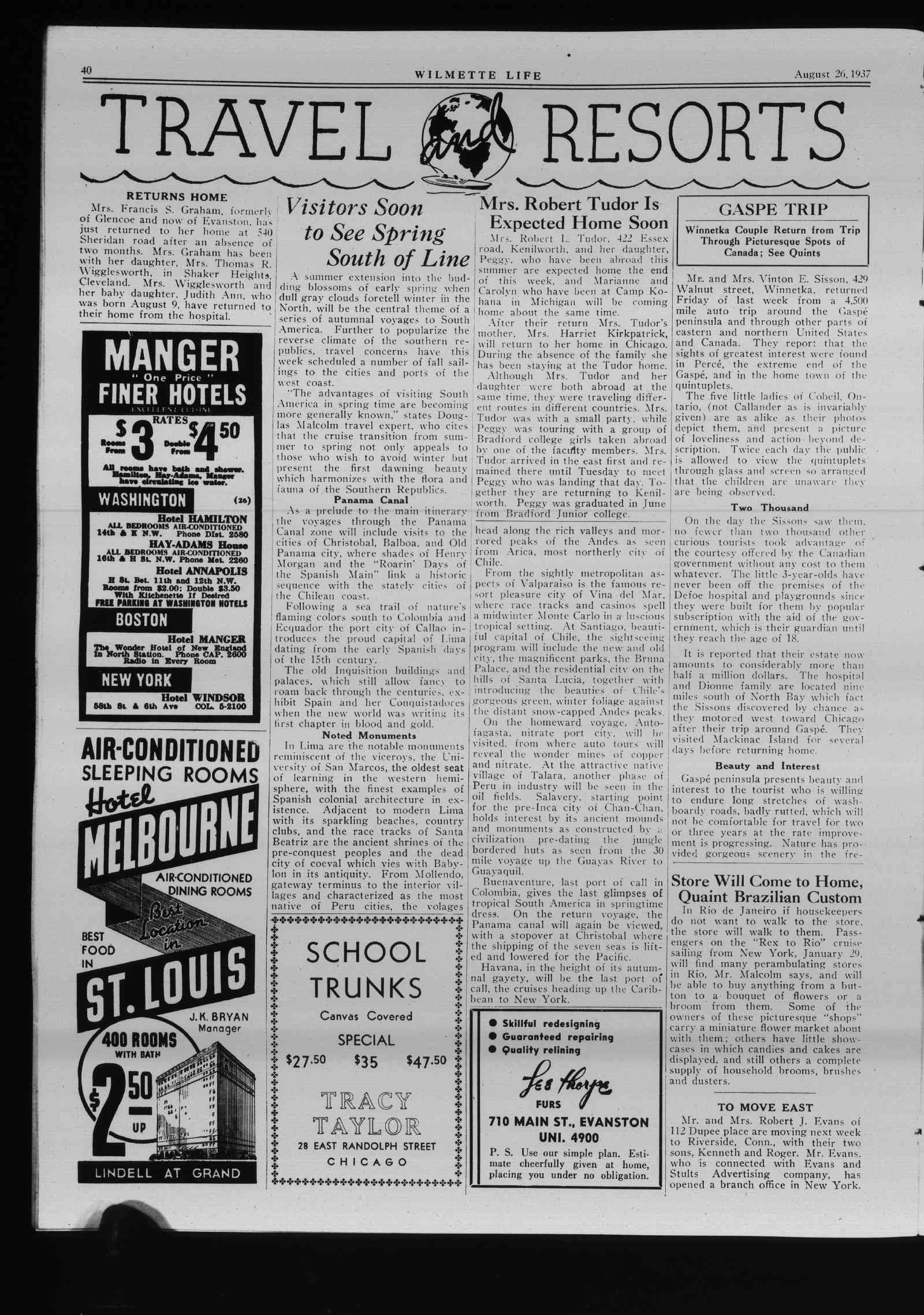 Wilmette Life (Wilmette, Illinois), 26 Aug 1937