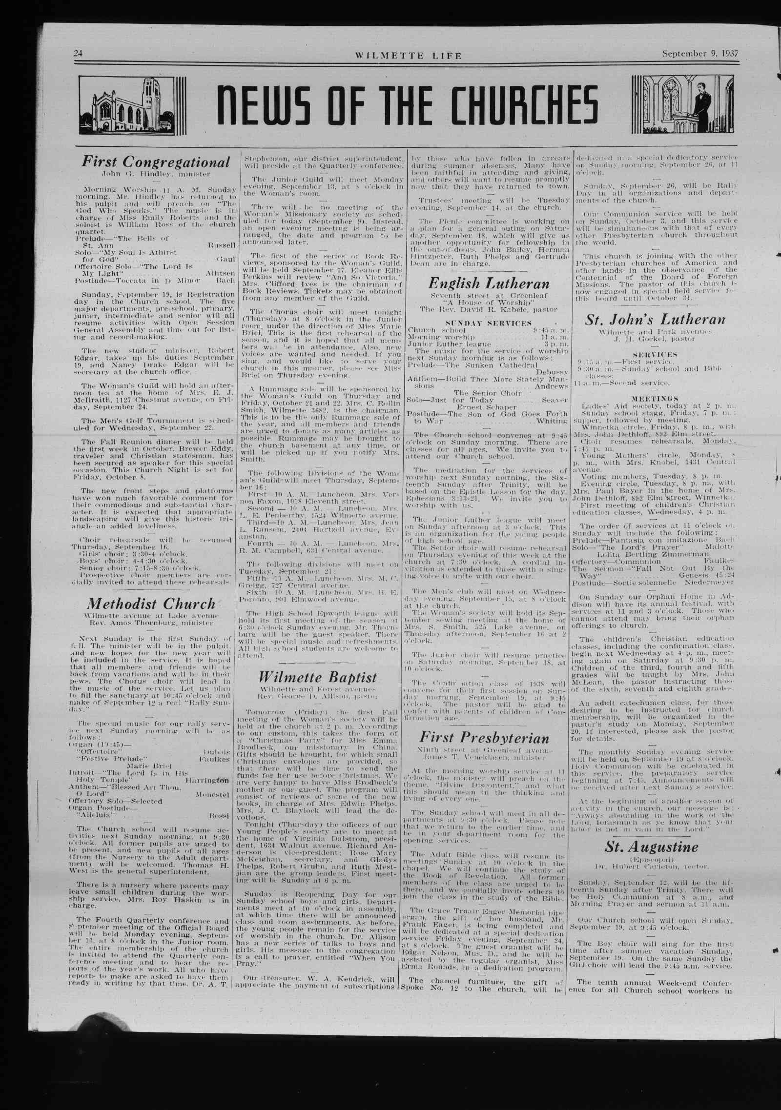 Wilmette Life (Wilmette, Illinois), 9 Sep 1937