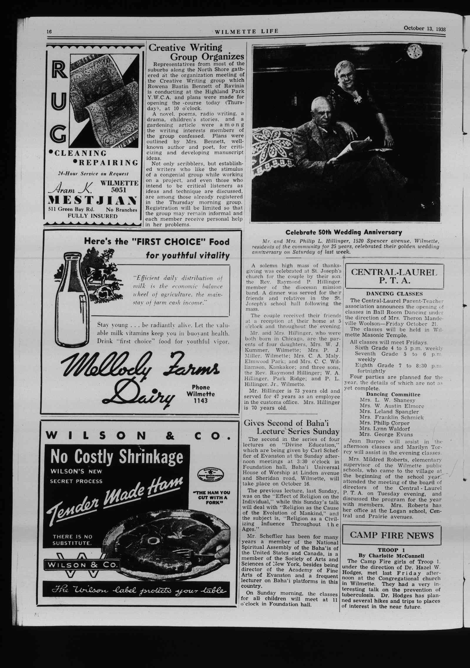 Wilmette Life (Wilmette, Illinois), 13 Oct 1938