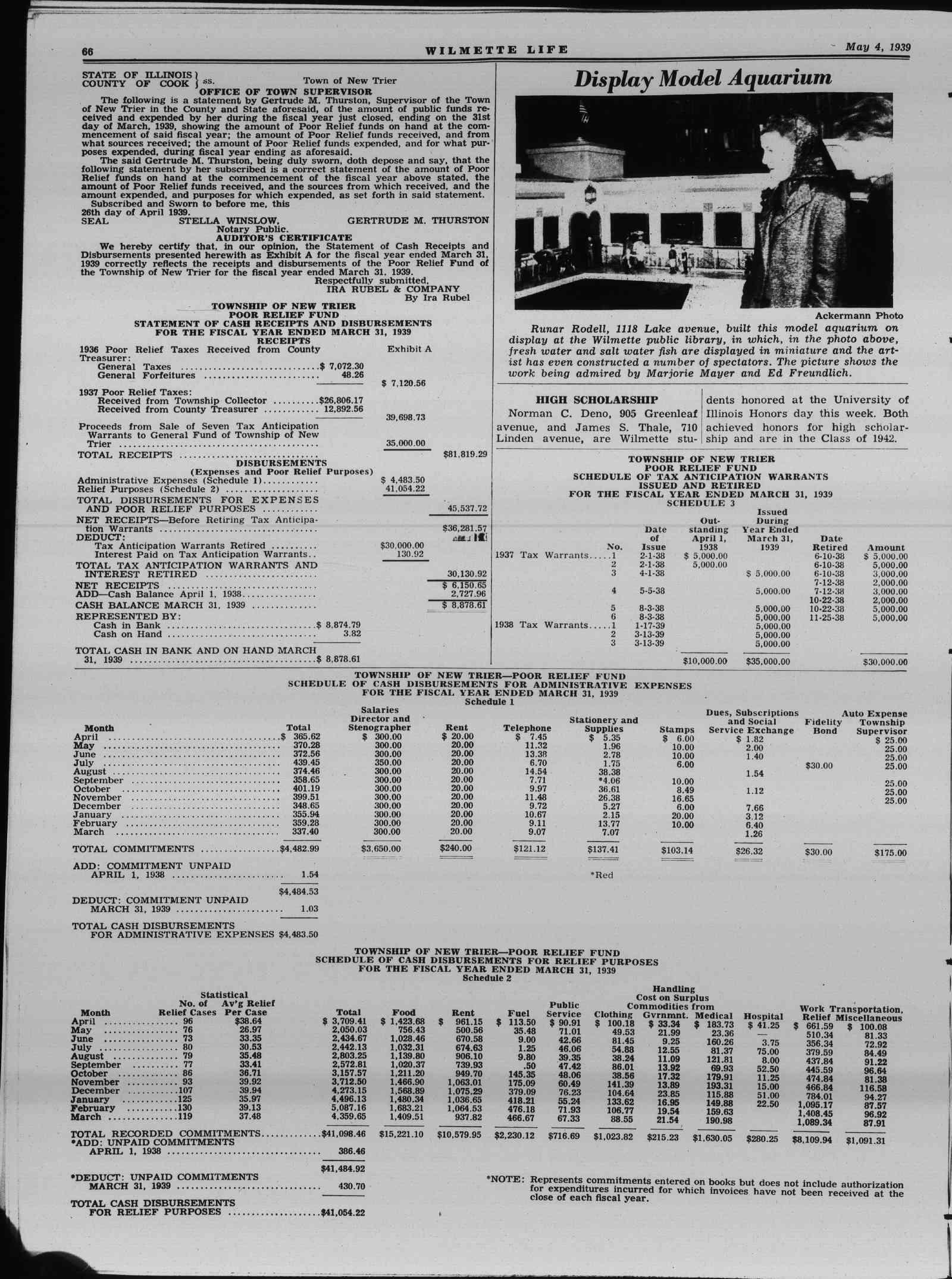 Wilmette Life (Wilmette, Illinois), 4 May 1939