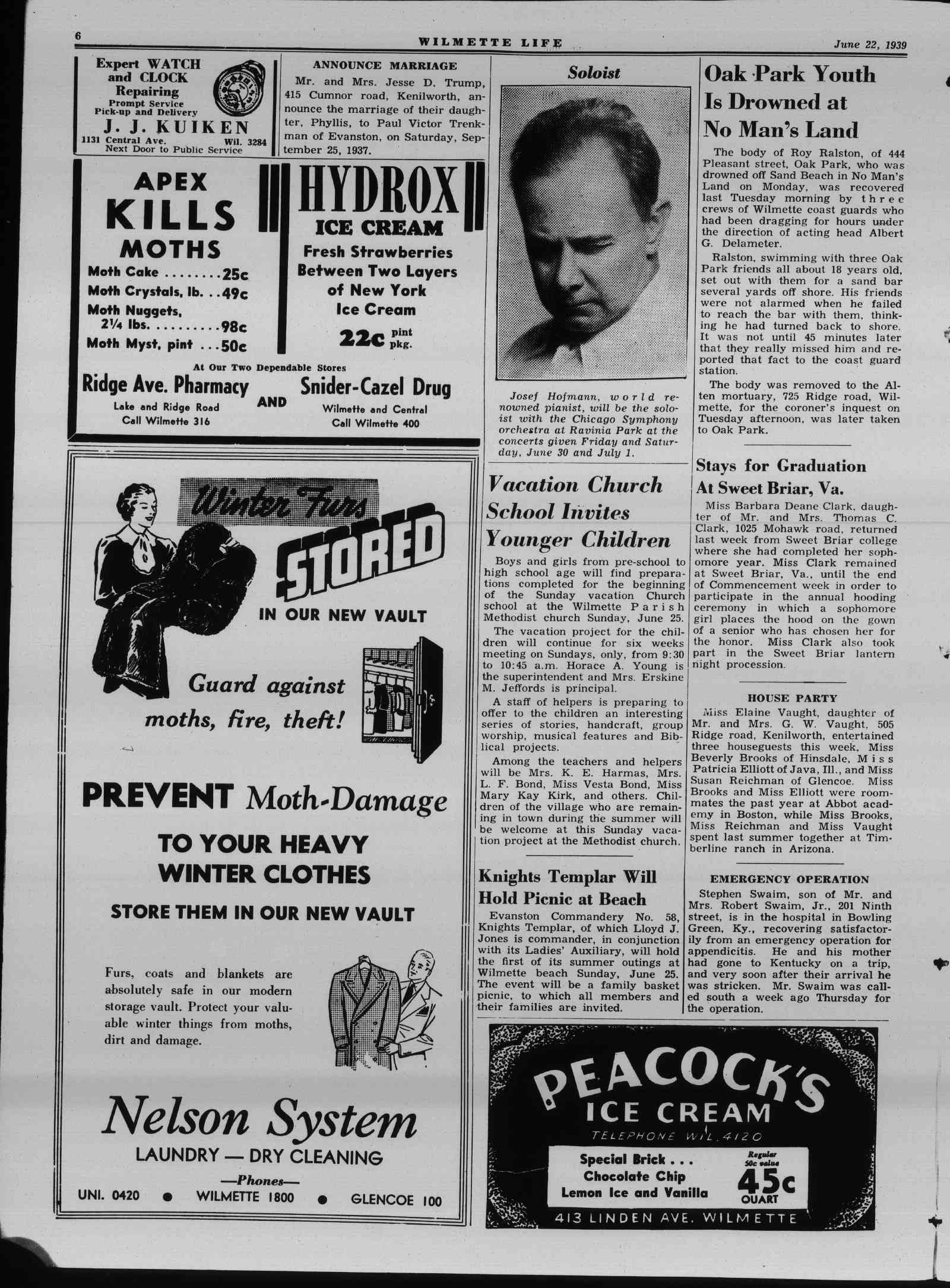 Wilmette Life (Wilmette, Illinois), 22 Jun 1939
