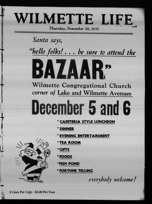 Wilmette Life (Wilmette, Illinois), 28 Nov 1935