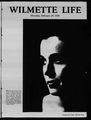 Wilmette Life (Wilmette, Illinois), 20 Feb 1936