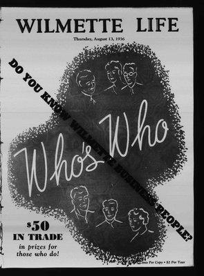 Wilmette Life (Wilmette, Illinois), 13 Aug 1936