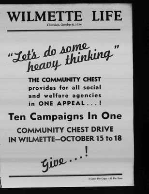 Wilmette Life (Wilmette, Illinois), 8 Oct 1936